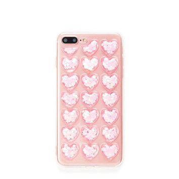 Heart Pattern iPhone Case PINK