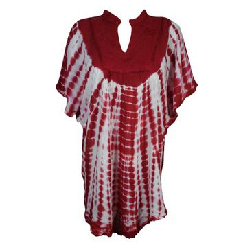 Mogul Womens Tie Dye Poncho Top Embroidered Bohemian Fashion Kimono Loose Cover Up Butterfly Style Beach Wear Blouse - Walmart.com