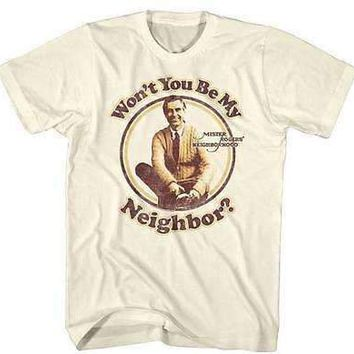Mens Mr Rogers 70s Neighbor Retro T-Shirt