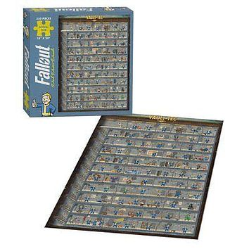 """Fallout 4 Vault Boy Perk Poster Jigsaw Puzzle 550 Piece 18"""" x 24"""" Finished Size"""