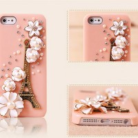 [gryxh3100022]lovely retro flower pearl case for iphone5