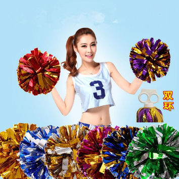 Rose All Star first single paragraph cheerleading pom pon Cheerleading cheer supplies 18 COLORS  53 gram/ pcs