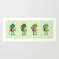 Teenage Mutant Ninja Turtles Art Print by Glimy