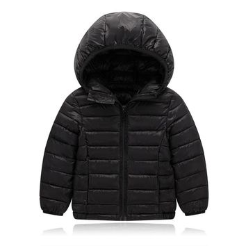 Children Boys Girl Pure Cotton Sports Down Jackets Autumn Winter Clothes for Little Baby Kids Warm Comfortable Sports Outwear