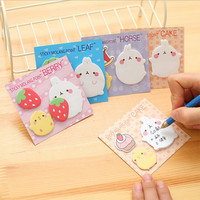 1 PCS Korean Sticky Notes Creative Cute Cartoon Animals Post Notepad Filofax Memo Pads Office Supplies School Stationery Scratch