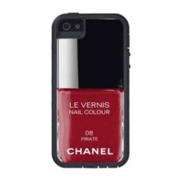 Pirate Red Nail Polish chanel Color for iphone 5s case