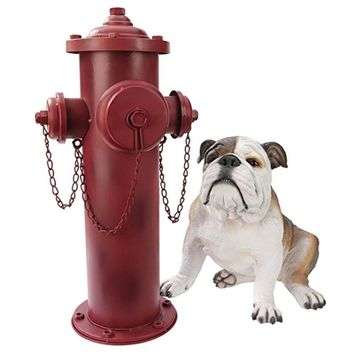 SheilaShrubs.com: Vintage Metal Fire Hydrant Statue DC122012 by Design Toscano: Garden Sculptures & Statues