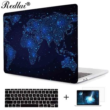 Plastic Hard Case with Keyboard Cover For Macbook Air 11 13 Pro 13 15 2016 Retina & Touch bar New 12 inch Starry Sky Laptop Case