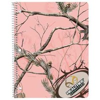 Realtree Outfitters AP Pink Camo Spiral Notebook