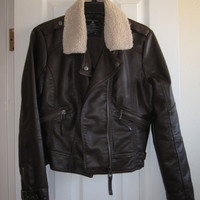 Faux Leather Bomber Jacket (Small/Indie Brands)