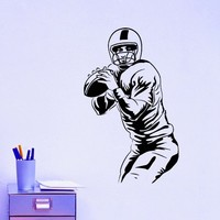 Football Player Wall Decal Vinyl Sticker Sport Wall Decor Home Interior Design Art Mural Boy Room Kids Nursery Bedroom Dorm Z745