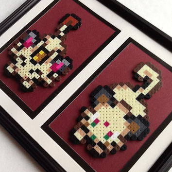 Meowth Evolution Double Mat Frame