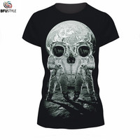 3D Print Skull T Shirts 2017 Summer New Brand Men's Clothing Harajuku Hip Hop Tops Tees Casual Stretch Graphic Black T Shirt