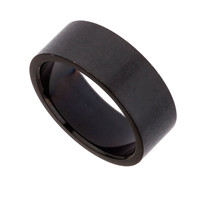 Black Stainless Steel Band Ring - Mens Jewelry - Shoes and Accessories - TOPMAN USA