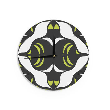 "Miranda Mol ""Green White Jaws"" Wall Clock"