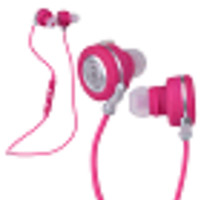 Noizy Kameleon Series Bluetooth Wireless In-Ear Stereo Headphones w/Inline Microphone/Controls (Pink)