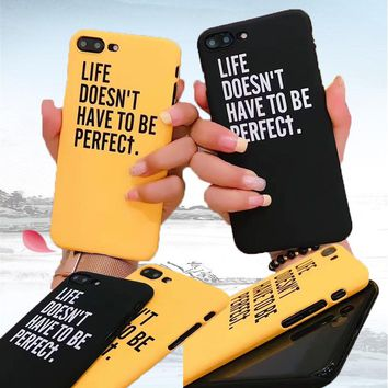 Simple Ultra Thin Hard Shockproof Protective Case Cover for iPhone 5 6 6S 6 Plus 6S Plus 7 7 Plus 8 8Plus Black Yellow