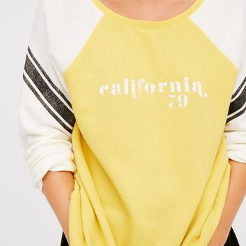 Free People College Dreamin' Pullover