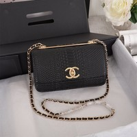 CHANE Double C silver and gold on Chain cross body bag Chane vintage Chanl jumbo Crossbody Satchel Shoulder Bag Monogram Tote Handbag Bags Best Quality