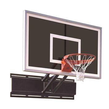 First Team Uni Champ Eclipse Adjustable Wall Mount Basketball Hoop 60 inch Smoked Glass