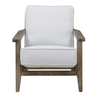 Ryder Accent Chair TAUPE - ANTIQUE WOOD