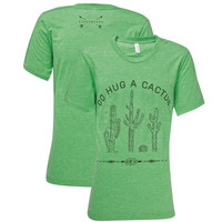 Southern Couture Lightheart Hug a Cactus Front Print Triblend T-Shirt