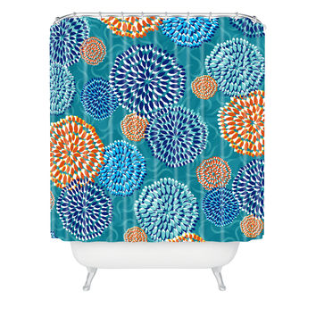 Jennifer Hill Summer Lake Shower Curtain
