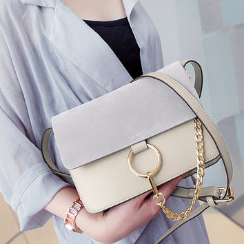 Chic Leather Chain Cross-body Bag