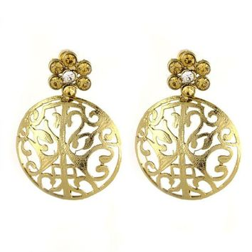 LMFXT3 VVS Jewellers Gold Plated Ethnic Indian Bollywood Diwali Sale Karva Chauth Women Kundan Earrings