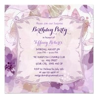 Purple Flower Blossoms Birthday Party