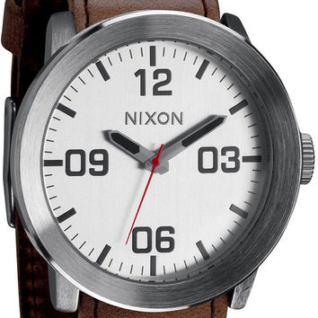Nixon Corporal Watch - Silver Brown