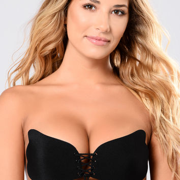 Up Close And Personal Invisible Bra - Black