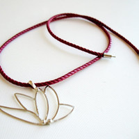 Sterling Silver, Hand Made Lotus Necklace, Modern, Minimalist & Chic Design