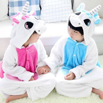Children cartoon pajamas Unicorn 2016 long sleeve baby girls boy clothes unicornio nightgown pyjamas kids pijamas infantil STR18