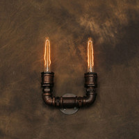 Industrial Pipe Wall Lamp