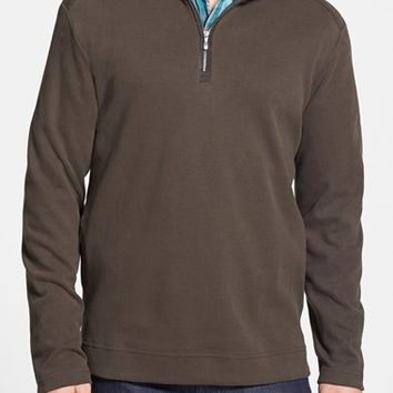 Men's Tommy Bahama 'Eversuede' Half-Zip Shirt,