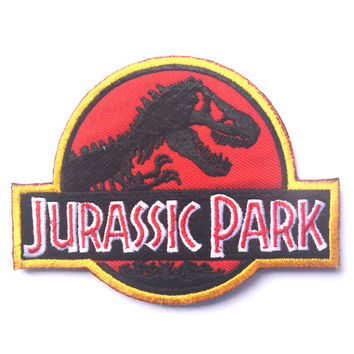 Jurassic Park jurassk Park sided Patch the tactical military patches badges for clothes clothing HOOK LOOP 10*7.5CM