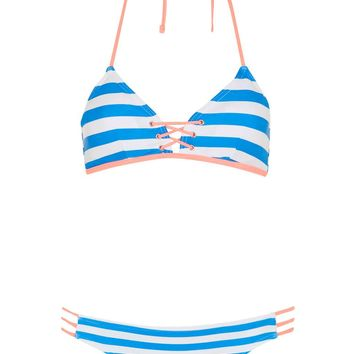 Mix Strap Triangle Bikini Top and Bottoms | Topshop