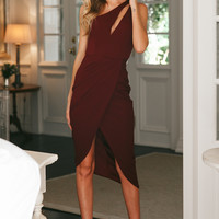 Fight Or Flight Maxi Dress Wine