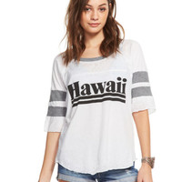Chaser Clothing | Chaser - Hawaii Shirttail Football Raglan Tee » West Of Camden