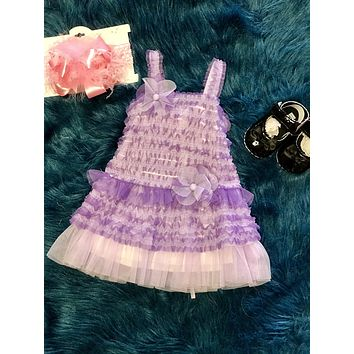 Isobella & Chloe Spring Lavender Lace Stunning Dress