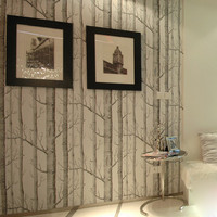 Textured Tree Forest Woods Wall Paper Background Wallpaper Roll Living Room Hotel Restaraunt Decor DIY