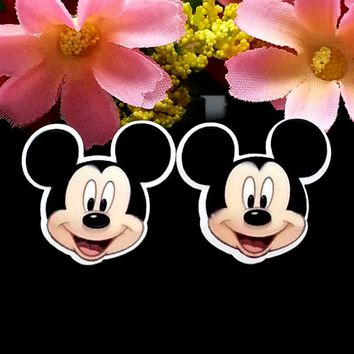 40pcs/Lot 22x22mm Mickey Mouse Face Planar Resin Cabochon Flat Back Scrapbooking Flatback Hair Bow Center