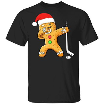 Dabbing Gingerbread Santa Hockey Christmas Pajama Gifts