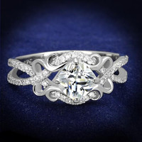 Enchanting Scroll Design Ring