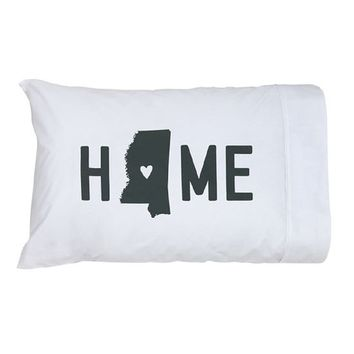 Mississippi Home Standard Novelty Pillow Case.