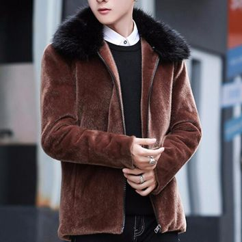 Men's Faux Fur Winter Coat Up To 3XL