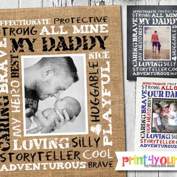 Fathers Day Keepsake // Personalized Printable 8x10 Fathers Day Gift // Fathers Day Keepsake // Fathers Day Art Print // Gift for Daddy
