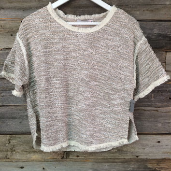 FANCY SWEATER TOP - IVORY+BLK