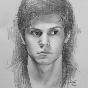 Evan Peters (sketch) Art Print by Nicolas Jamonneau